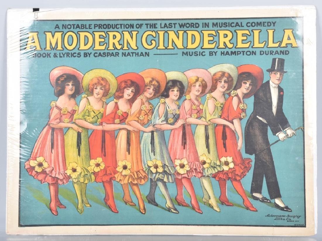 1900s MODERN CINDERELLA THEATER POSTER