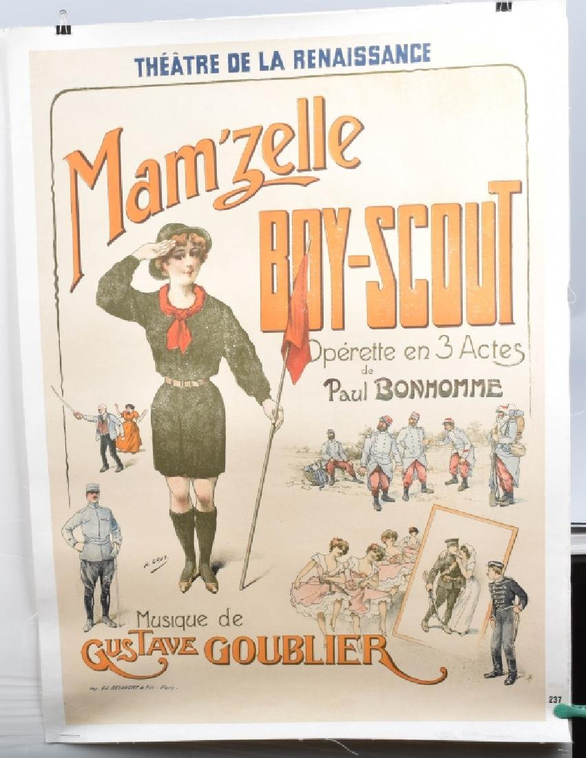 MAM'ZELLE BOY-SCOUT FRENCH THEATER POSTER