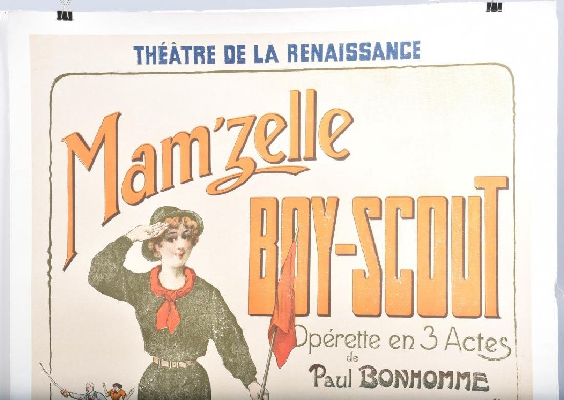 MAM'ZELLE BOY-SCOUT FRENCH THEATER POSTER - 2