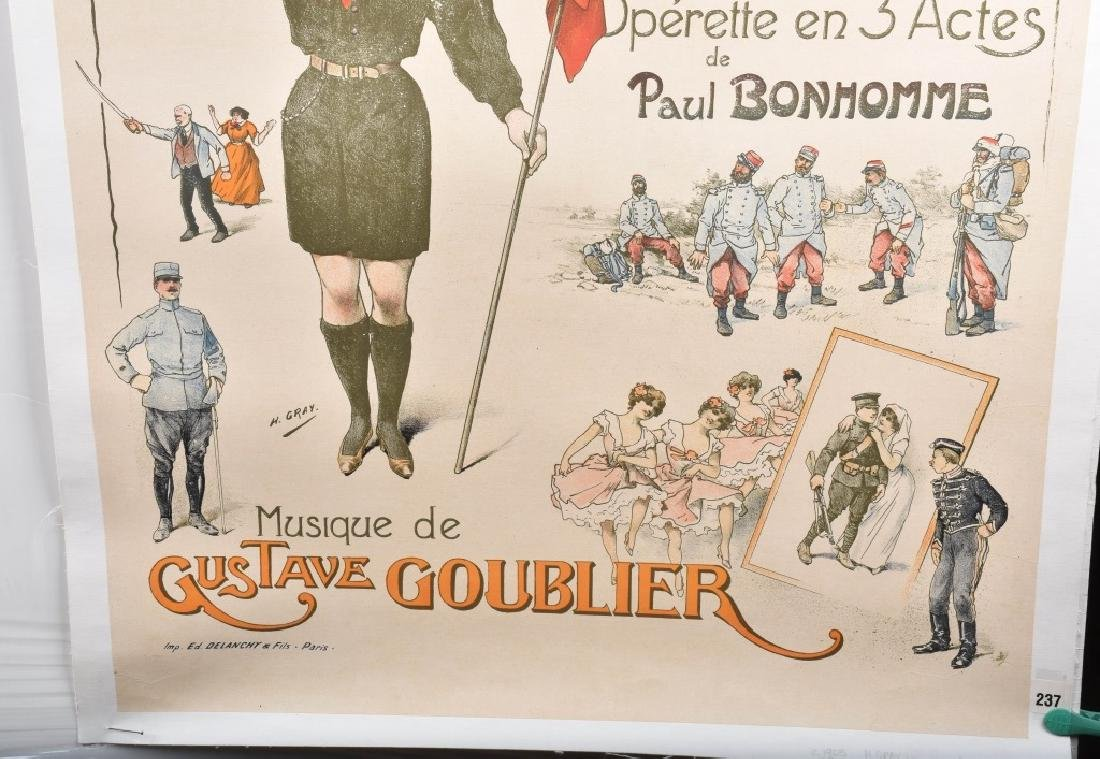 MAM'ZELLE BOY-SCOUT FRENCH THEATER POSTER - 5