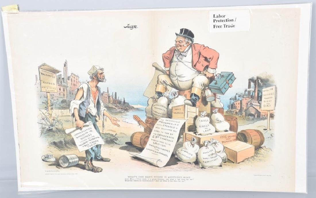 13- 1890s PUCK POLITICAL POSTERS - 10
