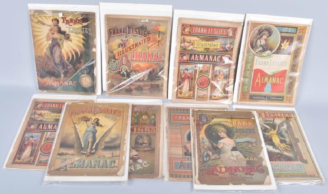 9- 1880s FRANK LESLIE'S ILLUSTRATED ALMANACS