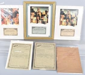 Lot Of Us Tax Papers & Tax Stamps