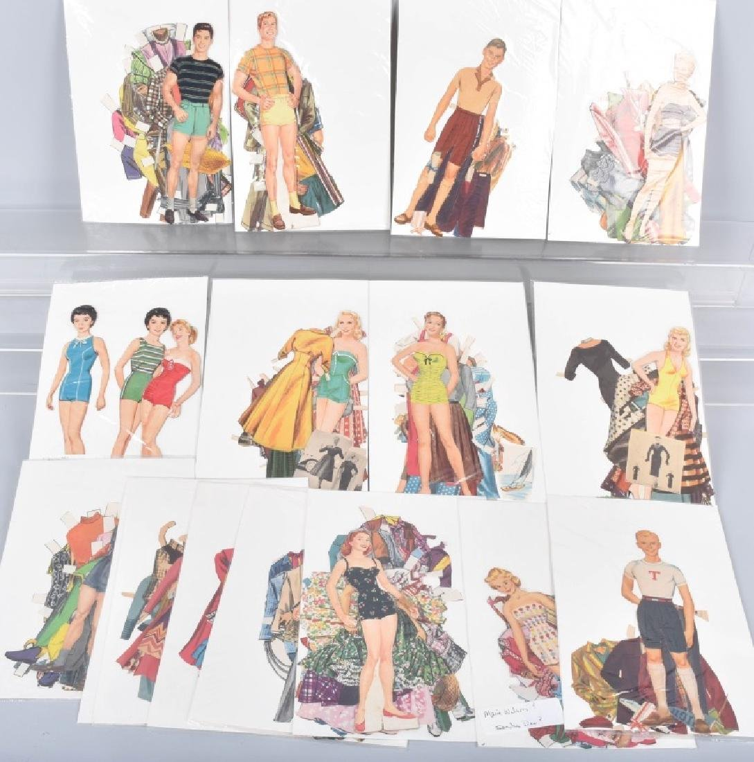 16- 1950s-60s PAPER DOLLS WITH CLOTHING