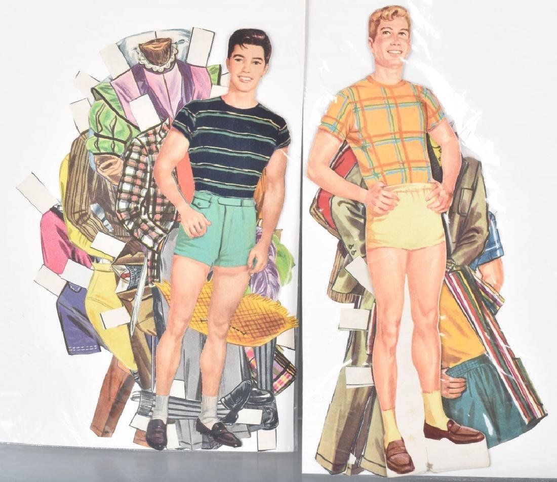 16- 1950s-60s PAPER DOLLS WITH CLOTHING - 2