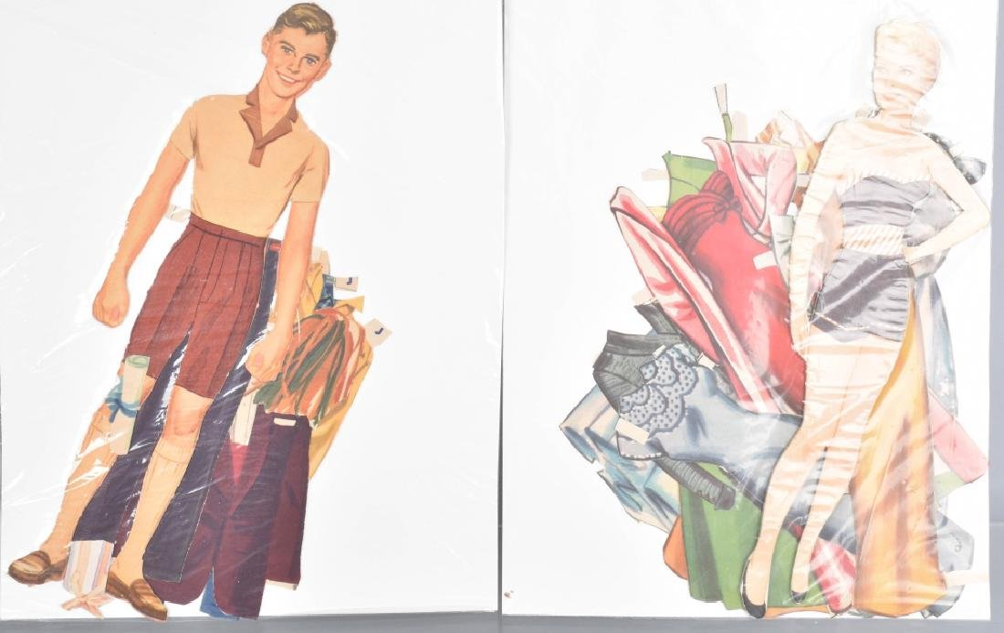 16- 1950s-60s PAPER DOLLS WITH CLOTHING - 3