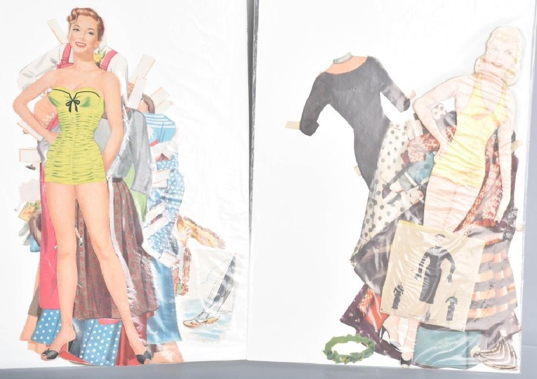 16- 1950s-60s PAPER DOLLS WITH CLOTHING - 5