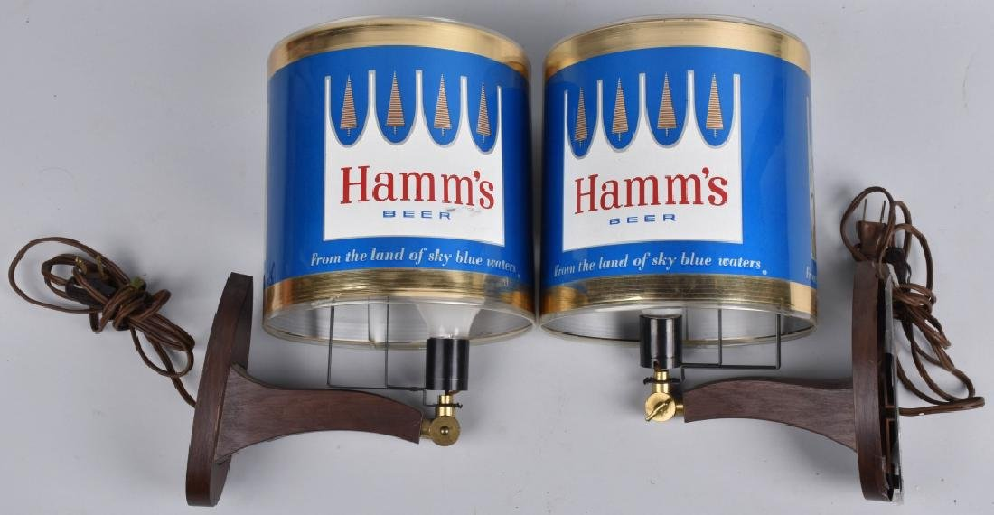 2-HAMM'S BEER ADVERTISING MOTION LAMPS