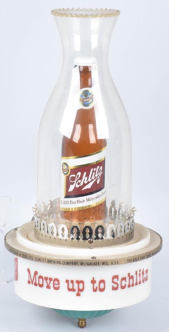 1959 SCHLITZ BEER ADVERTISING LAMP
