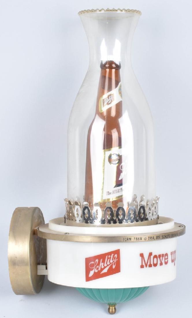 1959 SCHLITZ BEER ADVERTISING LAMP - 2