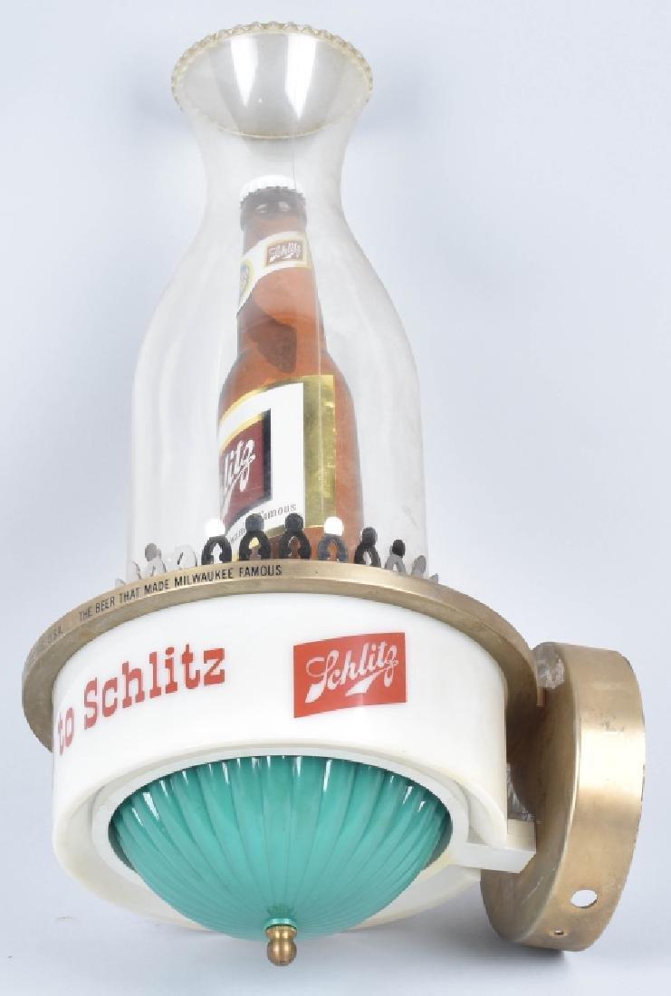 1959 SCHLITZ BEER ADVERTISING LAMP - 4