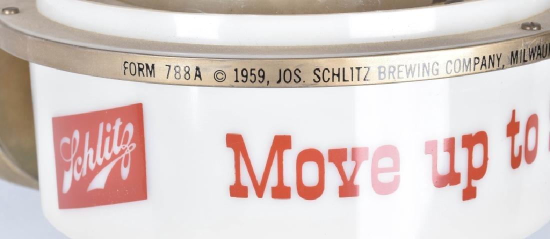 1959 SCHLITZ BEER ADVERTISING LAMP - 5