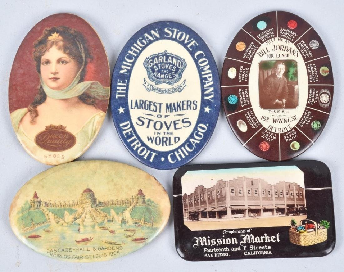15- CELLULOID ADVERTISING POCKET MIRRORS - 4