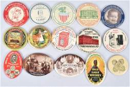 15 CELLULOID ADVERTISING POCKET MIRRORS