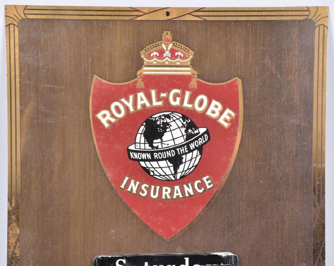 ROYAL GLOBE INSURANCE TIN CALANDER - 2