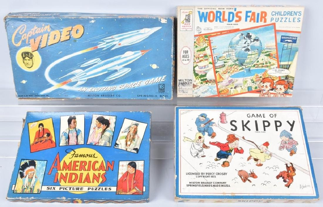 4 VINTAGE GAMES WORLDS FAIR, SKIPPY, & MORE
