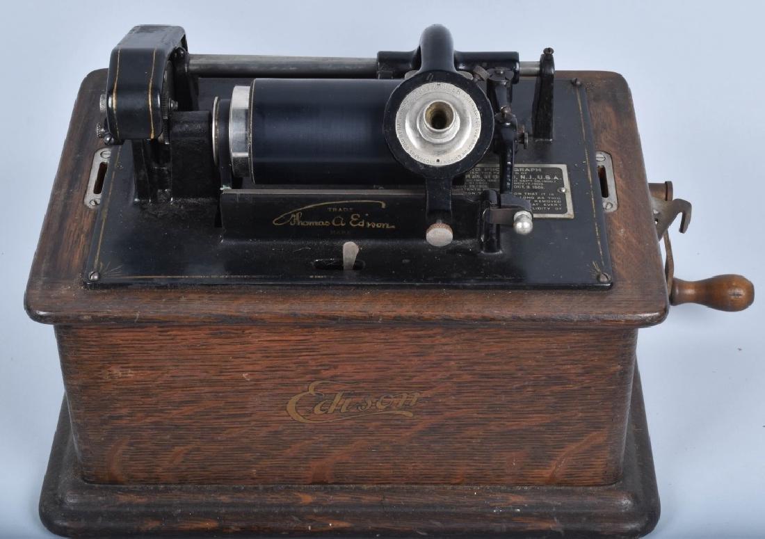 EDISON STANDARD CYLINDER PHONOGRAPH & MORE - 2