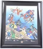 DC COMICS 60th ANNIVERSARY PRINT w AUTOGRAPHS