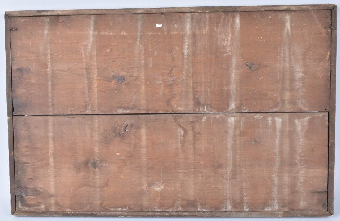 """VINTAGE """"MUST HAVE A PASS TO PROCEED"""" WOODEN SIGN - 2"""