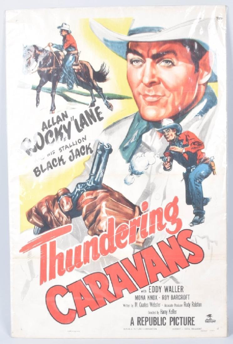 THUNDERING CARAVANS COWBOY MOVIE POSTER