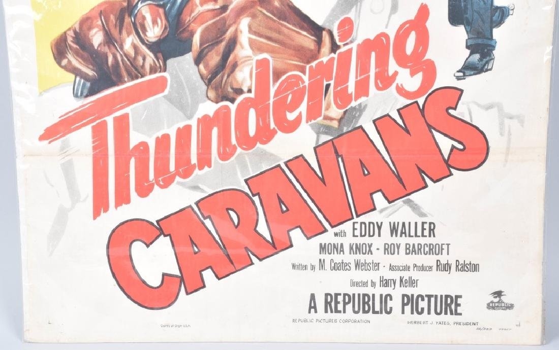 THUNDERING CARAVANS COWBOY MOVIE POSTER - 4