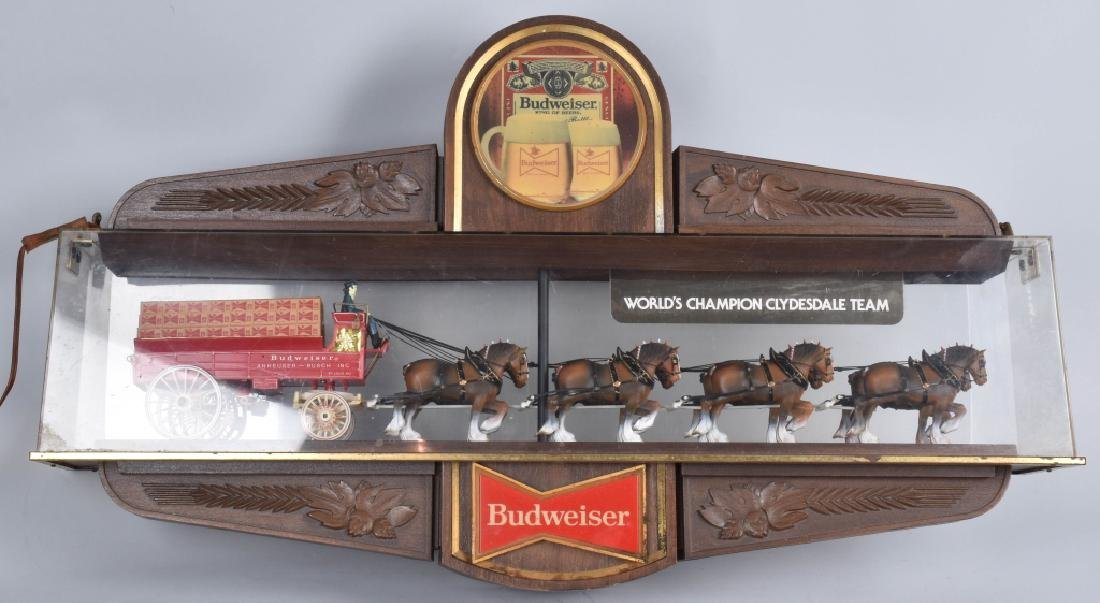 BUDWEISER CLYDESDALE LIGHT UP DISPLAY