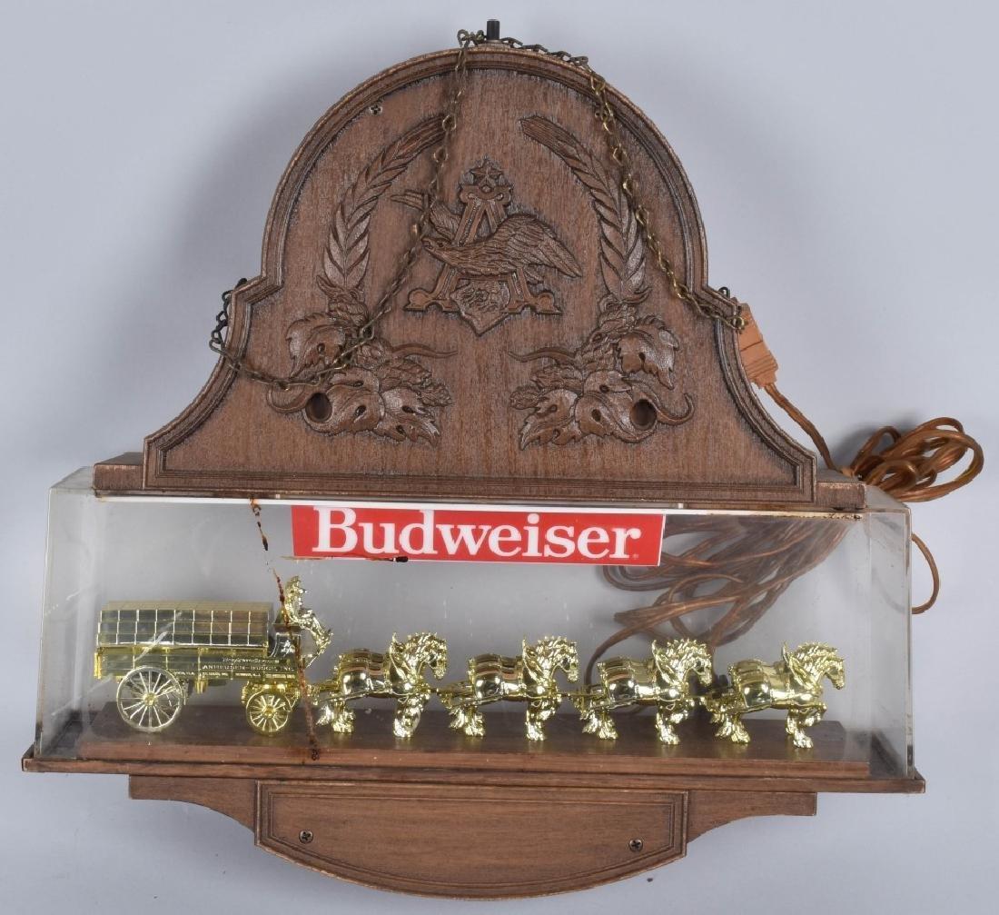 VINTAGE BUDWEISER CLYDESDALE CLOCK - 2