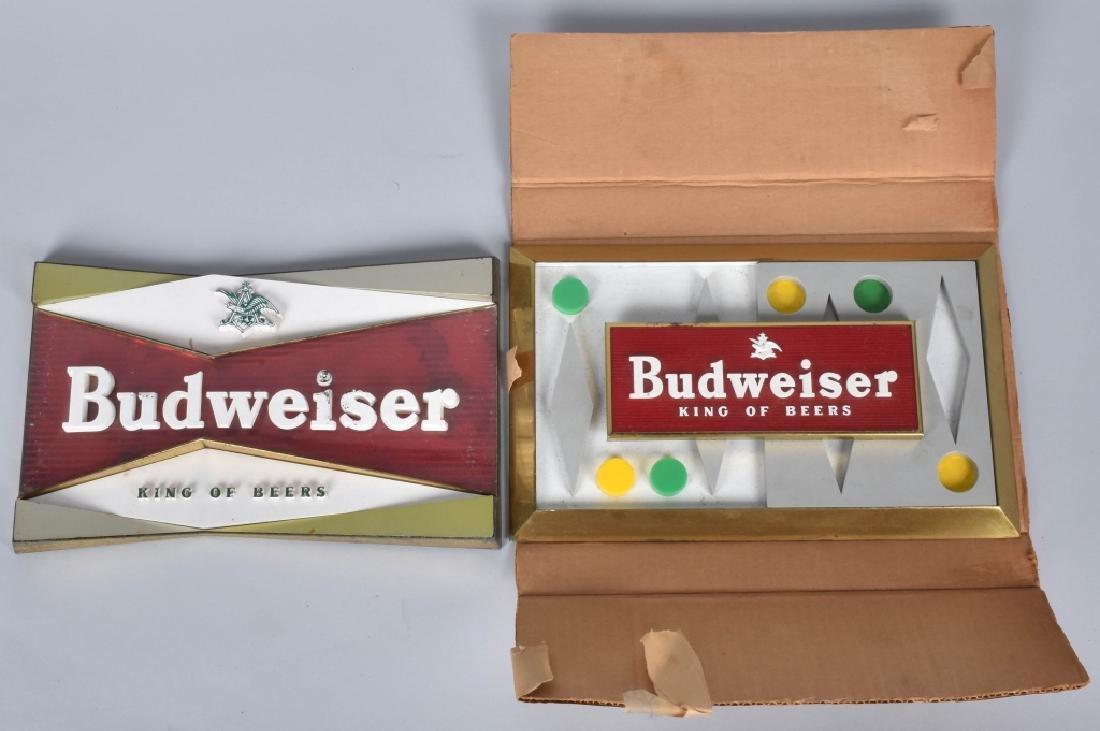2- VINTAGE BUDWEISER SIGNS