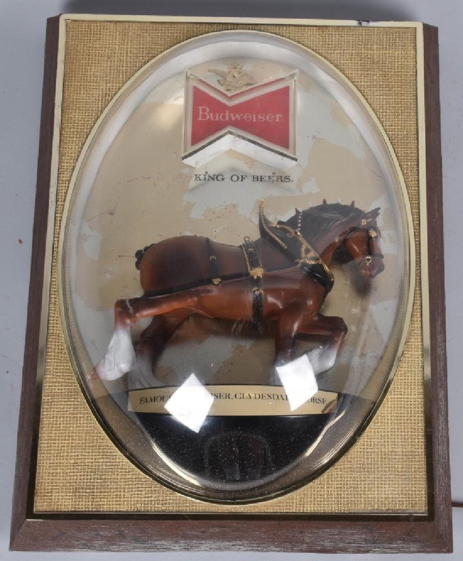 VINTAGE BUDWEISER CLYDESDALE SIGN