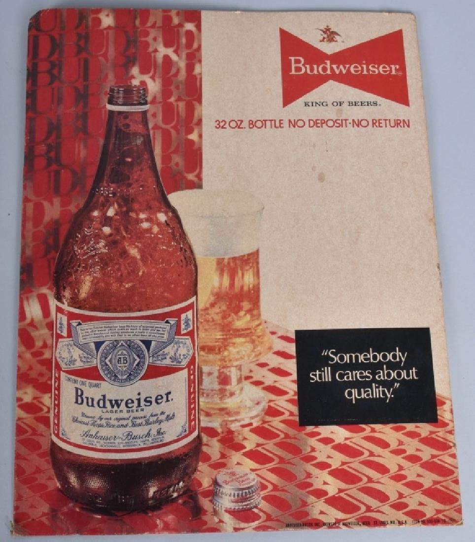 LOT OF BUDWEISER CARDBOARD SIGNS & MORE - 3