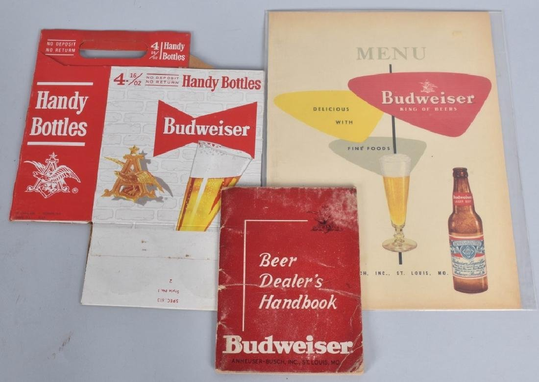 LOT OF BUDWEISER CARDBOARD SIGNS & MORE - 6