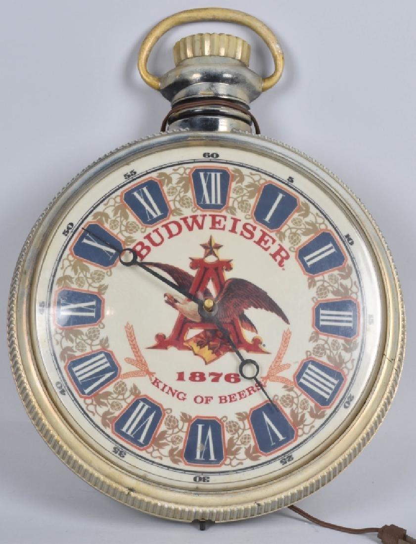 VINTAGE BUDWEISER POCKET WATCH CLOCK