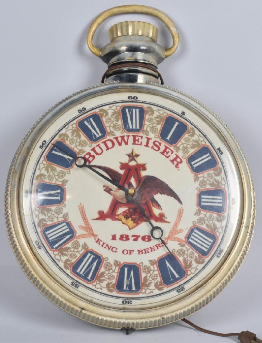 VINTAGE BUDWEISER POCKET WATCH CLOCK