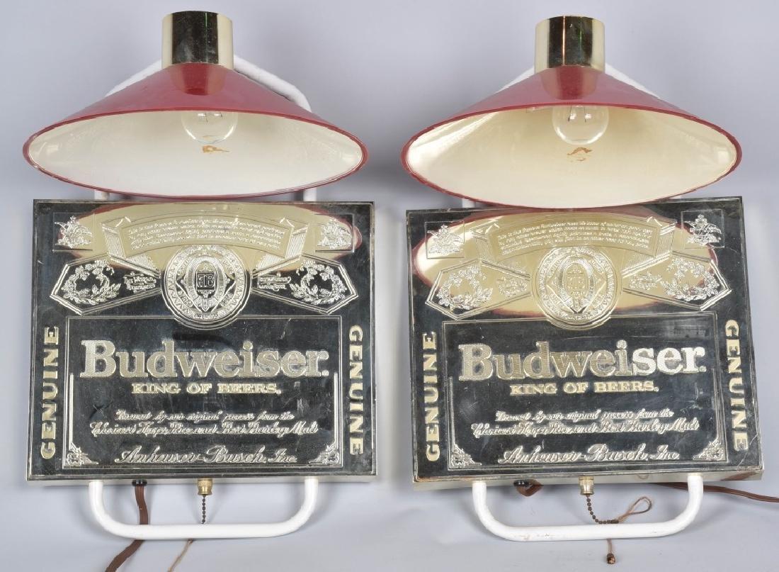 2- BUDWEISER WALL LAMPS
