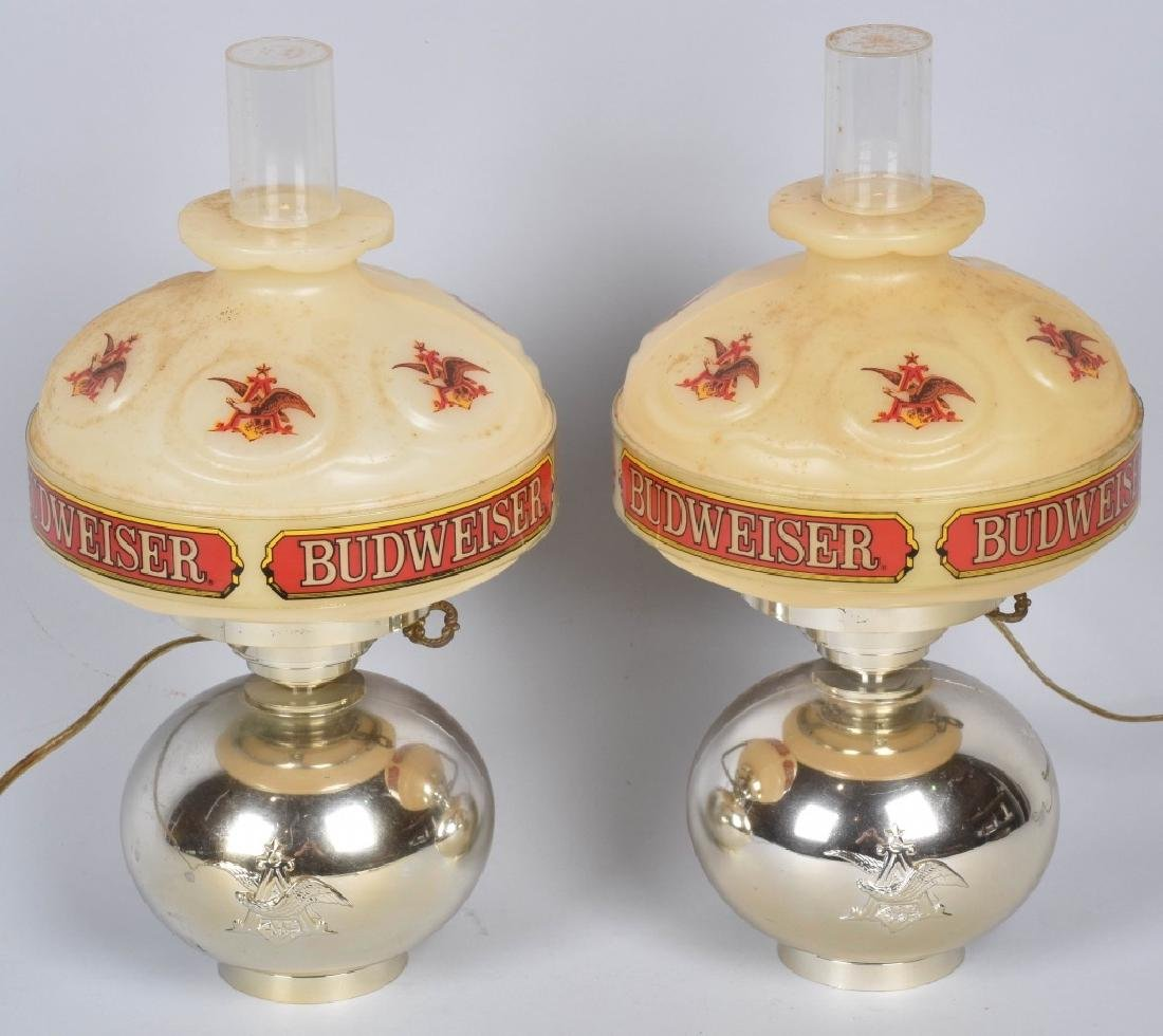 2- VINTAGE BUDWEISER WALL LAMPS