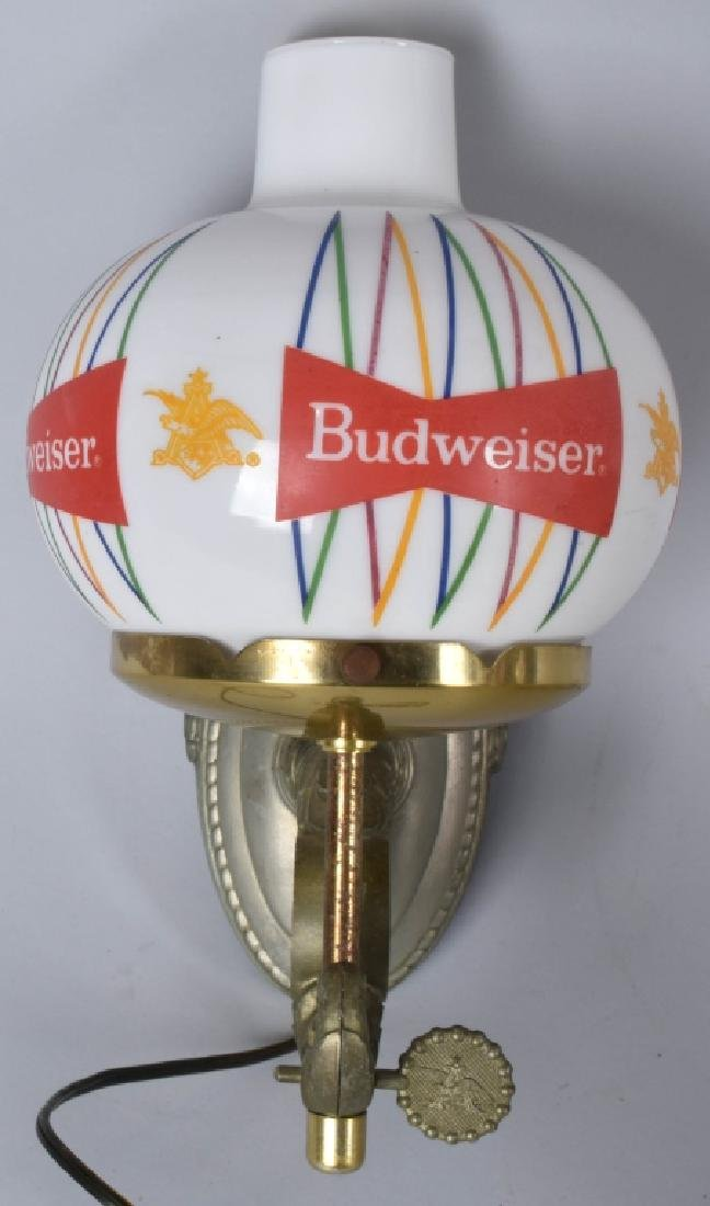 2- VINTAGE BUDWEISER WALL LIGHTS - 3