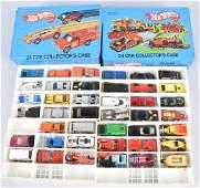2- 1970s HOT WHEEL CASES FULL OF CARS