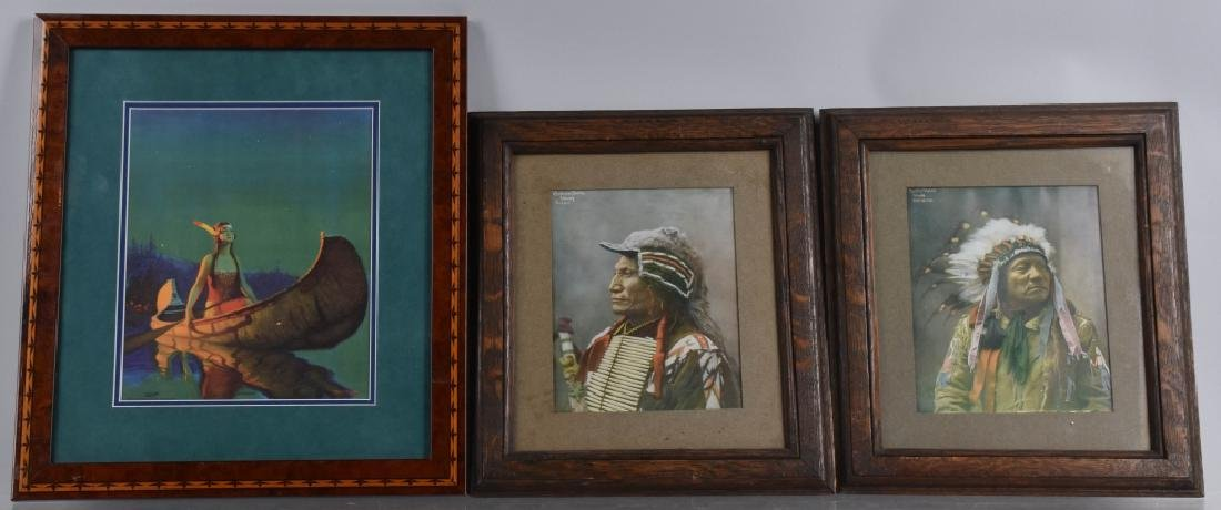 3- INDIAN PICTURES WITH FRAMES - 2