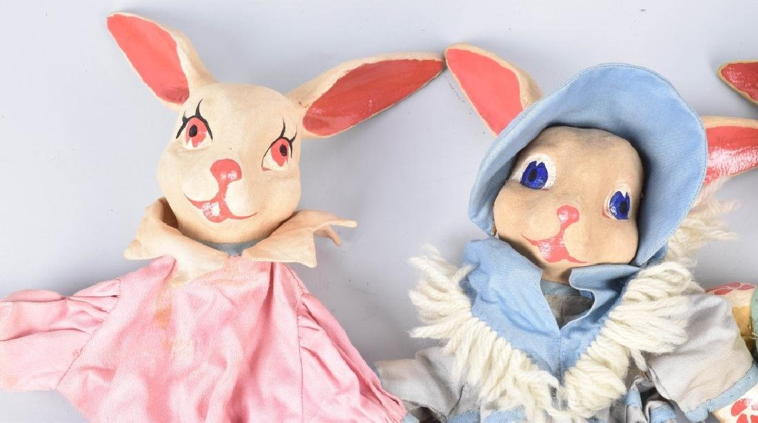 4- 1930s PETER RABBIT HAND PUPPETS - 2