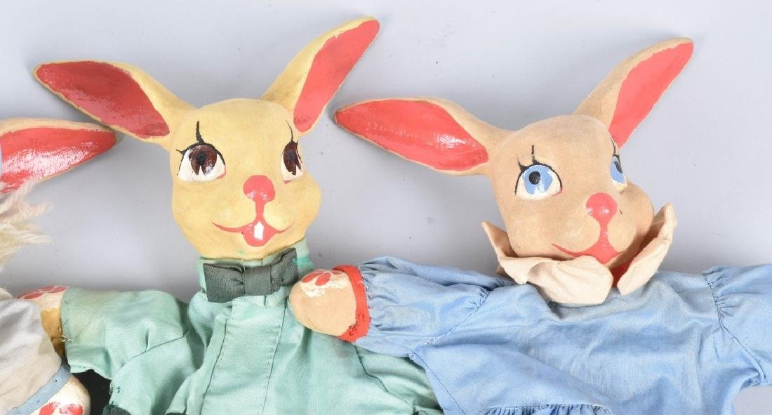 4- 1930s PETER RABBIT HAND PUPPETS - 3