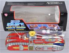 RED CHINA Battery Op SPACE SHIP w/ BOX