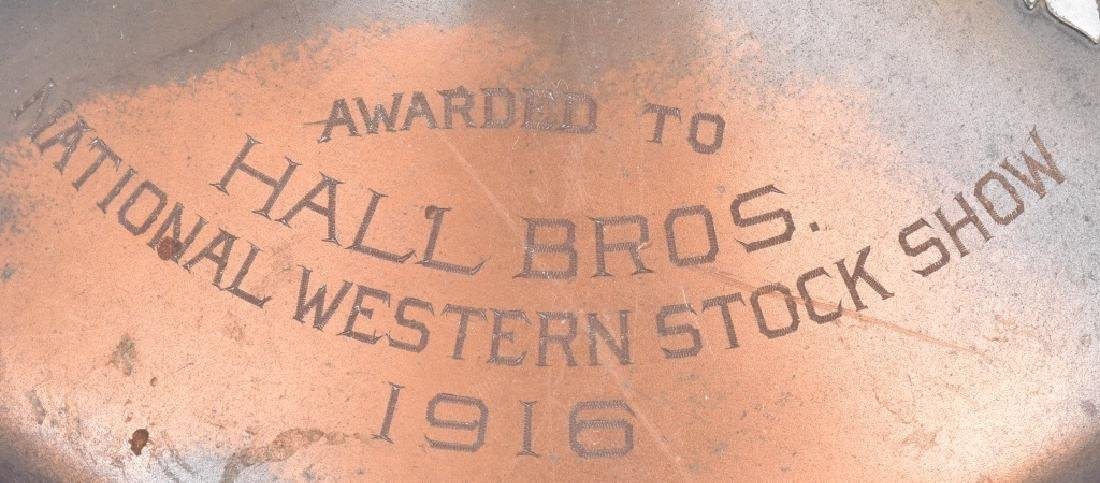 1916 SILVER on BRONZE WESTERN SHOW TROPHY - 4