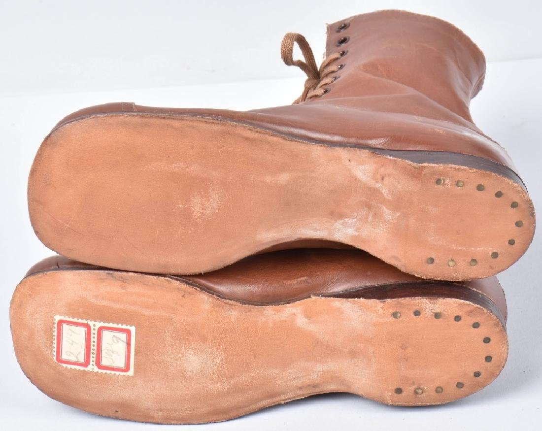 2-PAIRS VINTAGE CHILDS LEATHER SHOES, NOS - 3