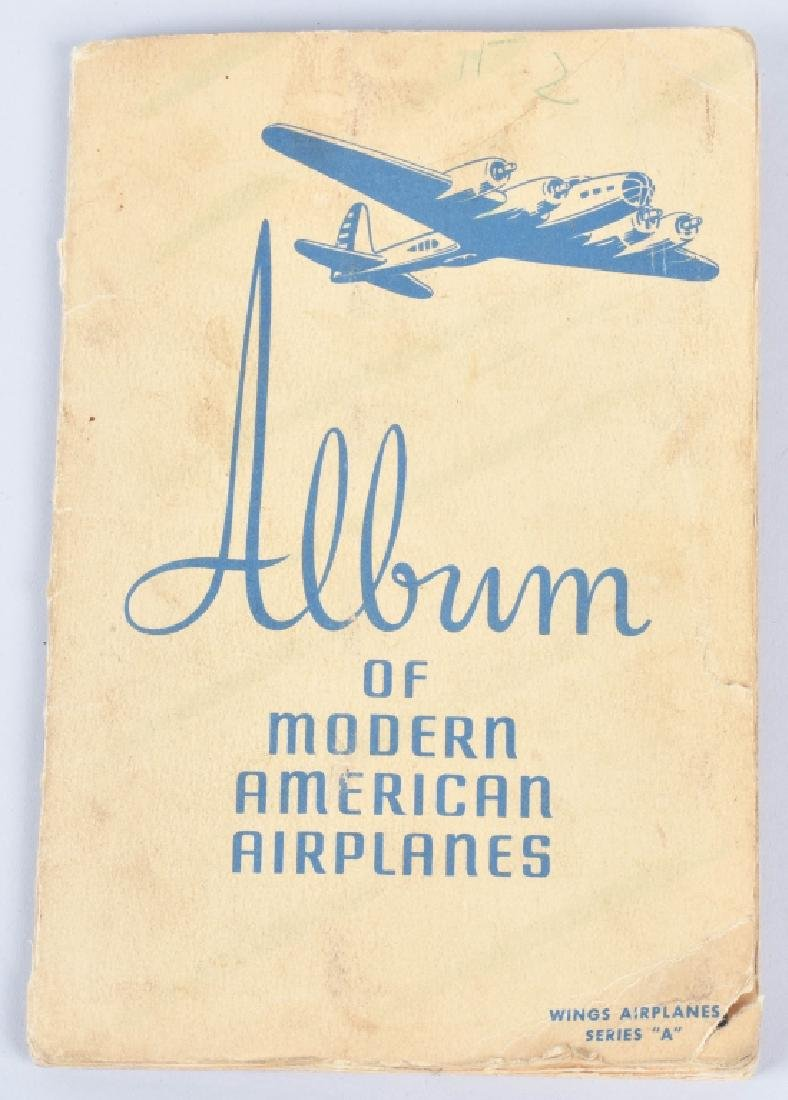 50-WINGS AIRPLANE CIGARETTE CARDS in ALBUM