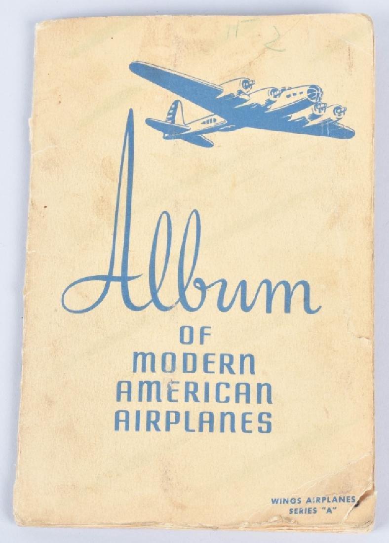 50-WINGS AIRPLANE CIGARETTE CARDS in ALBUM