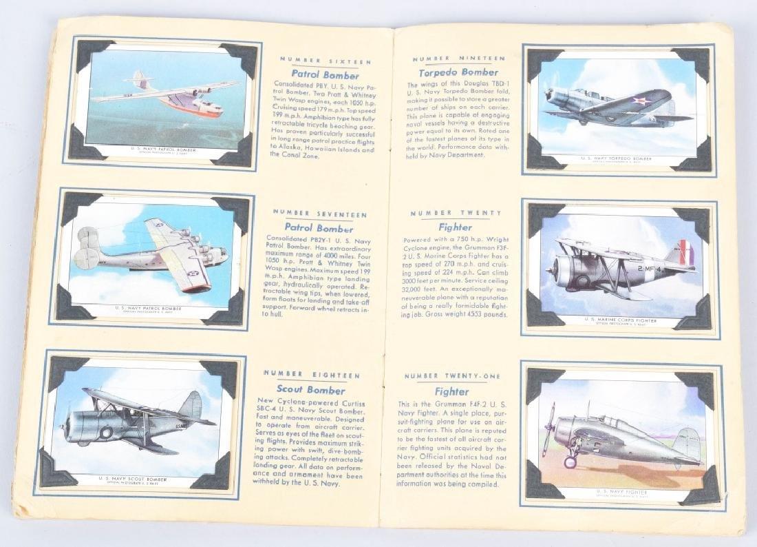 50-WINGS AIRPLANE CIGARETTE CARDS in ALBUM - 3