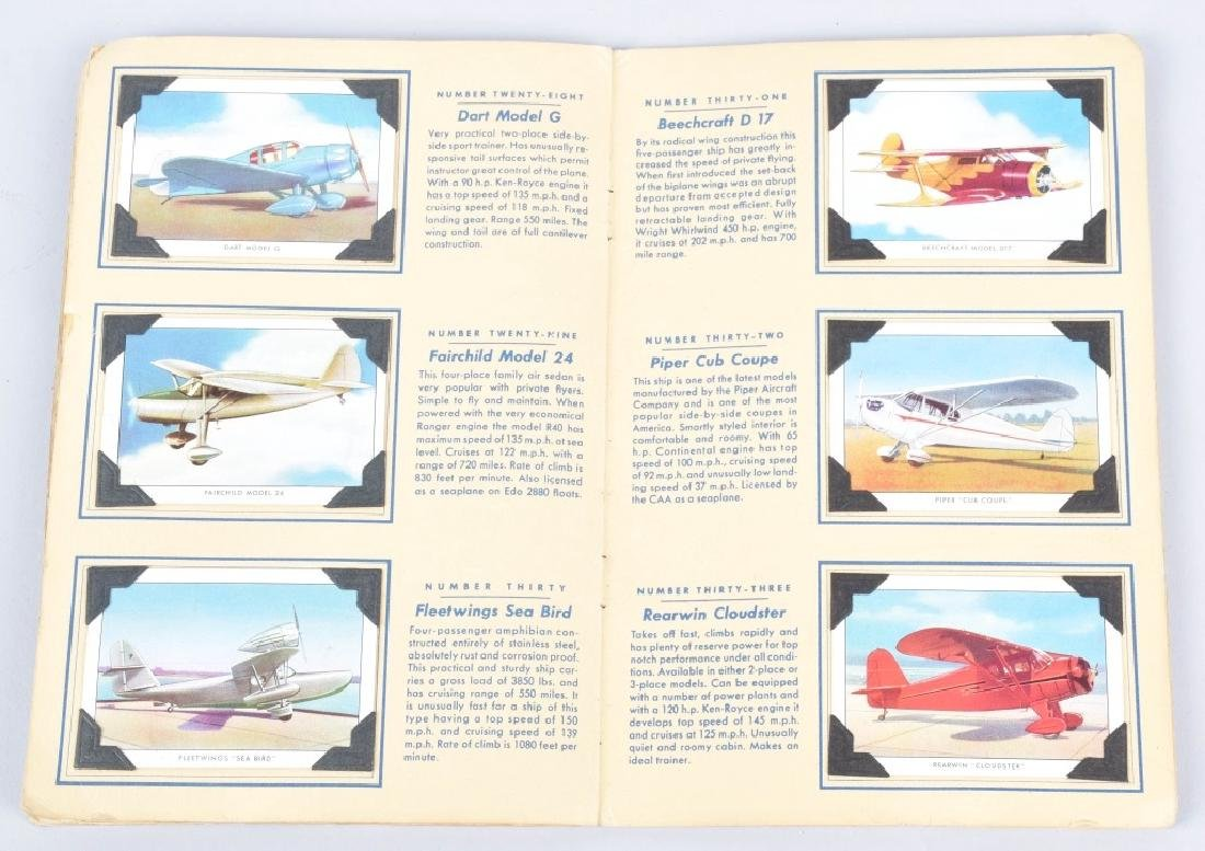 50-WINGS AIRPLANE CIGARETTE CARDS in ALBUM - 4