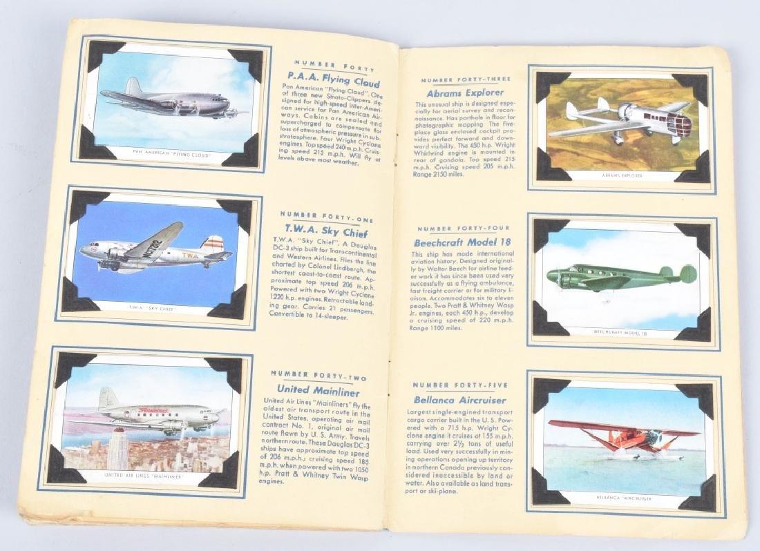 50-WINGS AIRPLANE CIGARETTE CARDS in ALBUM - 6