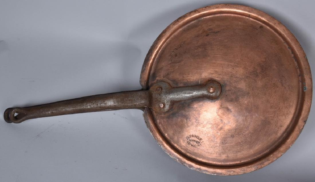 ANTIQUE DUPARQUET NY, COPPER PAN SET - 4