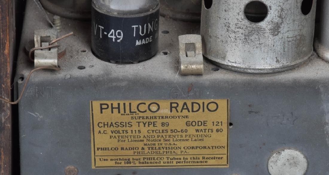 PHILCO TYPE 89 CATHEDRAL RADIO - 6